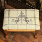 Y687 Cross Stitch PATTERN ONLY Charming Footstool Cover Reindeer & Trees Pattern