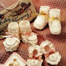 X723 Crochet PATTERN ONLY 3 Pairs of Heirloom Booties Pattern