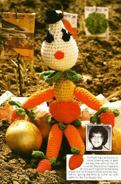 Y413 Crochet PATTERN ONLY Veggie Doll Toy Vegetable Pattern Unique