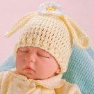 X967 Crochet PATTERN ONLY Newborn Baby Bunny Hat Rabbit Ears