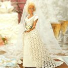 Y078 Crochet PATTERN ONLY Bridal Beauty Fashion Doll Wedding Gown Barbie