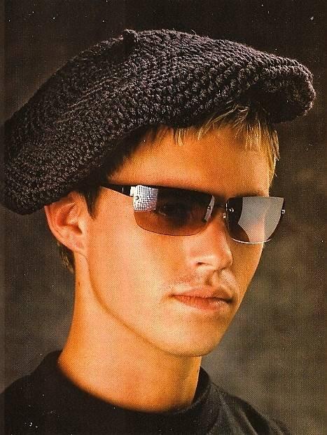 X709 Crochet PATTERN ONLY Classic Beret Hat Plus Sizes