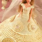 X876 Crochet PATTERN ONLY Fashion Doll Barbie Wedding Gown w/ Beaded Medallions