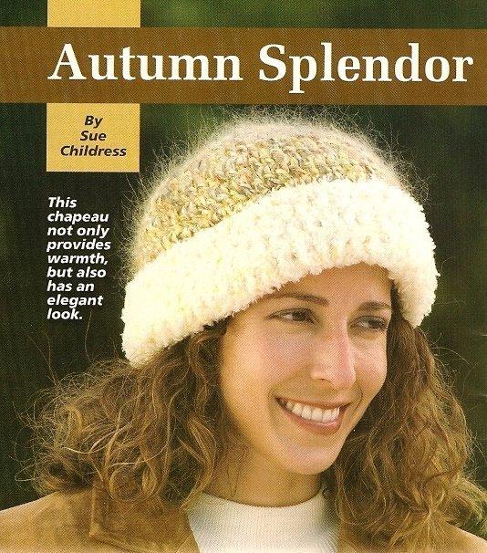 X960 Crochet PATTERN ONLY Autumn Splendor Stocking Hat