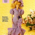 X963 Crochet PATTERN ONLY Fashion Doll Easter Dress Barbie