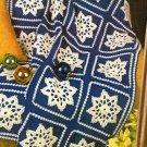 X838 Crochet PATTERN ONLY Elegant Snowflake Afghan