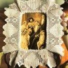 Y211 Filet Crochet PATTERN ONLY Heart Photo Frame Pattern