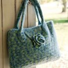 Y700 Crochet PATTERN ONLY Felted Flower Flap Tote Bag Pattern