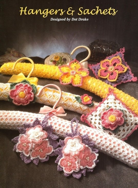 X428 Crochet PATTERN ONLY Floral Sachet & Hanger Pattern