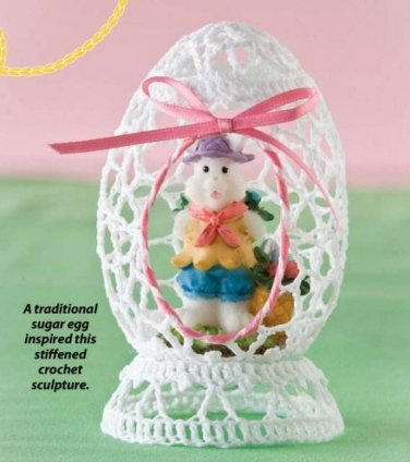 Y007 Crochet PATTERN ONLY Sculpted Easter Egg with Hollow Center