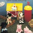 X536 Crochet PATTERN Book ONLY Country Cousins Pig Horse Cow Hen Doll Toy Animal