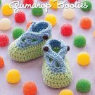 Y384 Crochet PATTERN ONLY Gumdrop Baby Booties Pattern