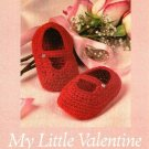 Y331 Crochet PATTERN ONLY My Little Valentine Baby Girl Shoes Pattern