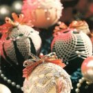 Y255 Crochet PATTERN ONLY 4 Old-Fashioned Christmas Ornament Cover Patterns