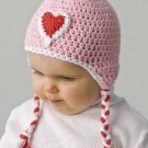 Y228 Crochet PATTERN ONLY Sweetheart Baby Toddler Cap Hat Bonnet Pattern