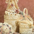 Y247 Crochet PATTERN ONLY Victorian Christmas Ornaments Angel Basket Parasol