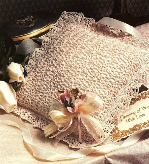 Y217 Crochet PATTERN ONLY Lacy Feminine Accent Pillow Pattern