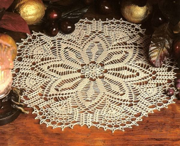 Y196 Crochet PATTERN ONLY Winter Lace Doily Pattern