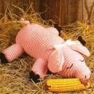 Y133 Crochet PATTERN ONLY Cute Country Pig Toy Doll