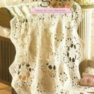 Y085 Crochet PATTERN ONLY Bride's Heirloom Afghan Wedding Bridal Shower