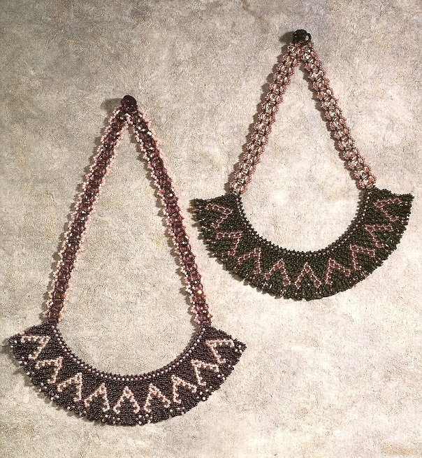 X862 Bead PATTERN ONLY Beaded Romantic Lace Necklace Pattern