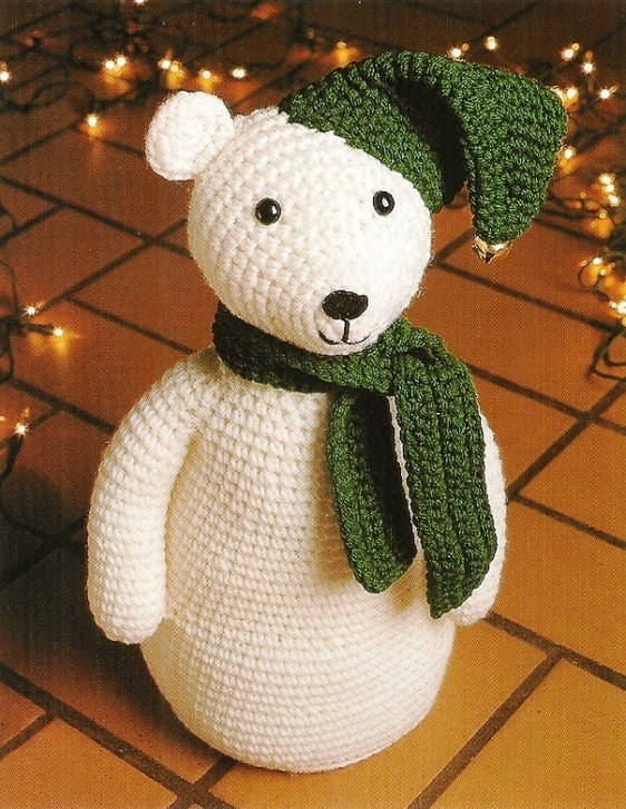 X791 Crochet PATTERN ONLY Snowbear Stuffed Toy Doll