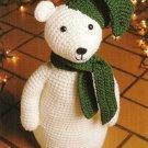 X791 Crochet PATTERN ONLY Snowbear Stuffed Toy Doll