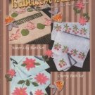 X720 Crochet PATTERN ONLY Bathroom Beauties Towels Face Cloths Flowers Edging