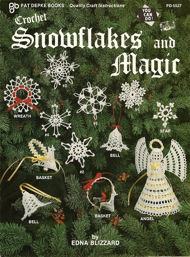 X096 Crochet PATTERN ONLY Snowflakes and Magic Pattern Christmas Ornaments