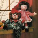 X172 Sewing PATTERN ONLY Raggedy and Clown Dolls & Clothes plus Bonus Pattern