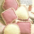 X232 Crochet PATTERN ONLY 5 Pillow Pattern Hexagon Square Round Diamond Triangle