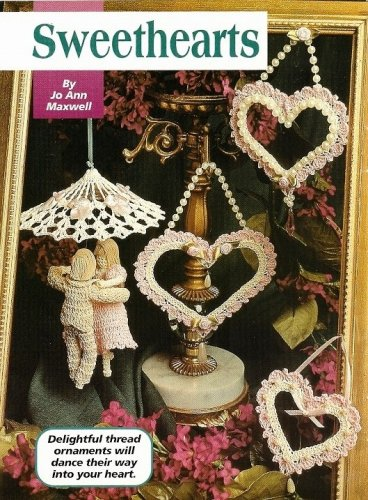 X638 Crochet PATTERN ONLY Dancing Sweetheart Couple Ornament Trio of Hearts