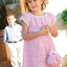 X239 Crochet PATTERN ONLY Little Girl Dress & Purse Pattern