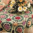 X530 Crochet PATTERN ONLY Flower Garden Tablecloth Pattern