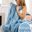 X273 Crochet PATTERN ONLY 3 Afghan Pattern Airy, Posy, Filet Patterns