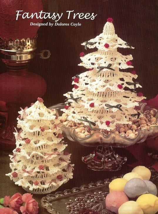 X399 Crochet PATTERN ONLY 2 Fantasy Tree Christmas Decoration Pattern