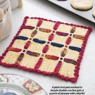 W381 Crochet PATTERN ONLY Woven Plaid Hot Pad Pattern