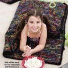 W383 Crochet PATTERN ONLY Child Size Sleeping Bag & Tote Pattern