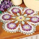 W258 Crochet PATTERN ONLY Lilac Floral Fantasy Doily Pattern