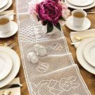 W209 Filet Crochet PATTERN ONLY Easter Table Runner Egg Bunny Basket Pattern