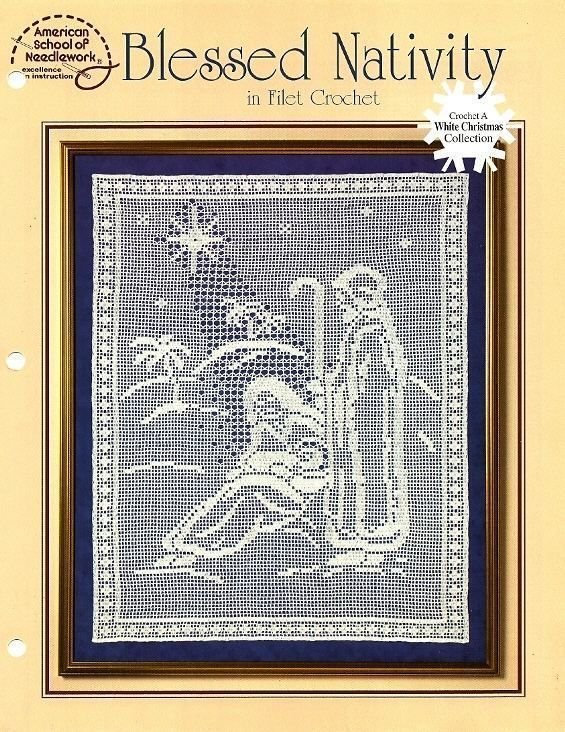 Y931 Filet Crochet PATTERN Book ONLY Blessed Nativity Wall Hanging Pattern