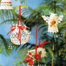 Y230 Crochet PATTERN ONLY Mailbox Bells Ball Angels 7 Christmas Ornament Pattern