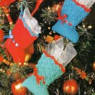 Y593 Crochet PATTERN ONLY Christmas Tree Skirt & Mini Stocking Ornaments Pattern