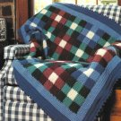 X539 Crochet PATTERN ONLY 3 Afghan & Pillow Gingham, Checks, Shells Patterns