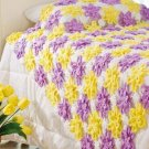 Y825 Crochet PATTERN ONLY Pretty Posies Throw Afghan Pattern