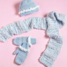Y880 Crochet PATTERN ONLY Little Girl's Soft Winter Hat Scarf Mittens Patterns