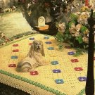 Y454 Crochet PATTERN ONLY Floral Aran Afghan Pattern