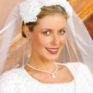 W127 Crochet PATTERN ONLY Perfect Roses Bridal Headpiece Wedding Pattern