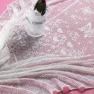 W131 Filet Crochet PATTERN ONLY Romantic Butterflies & Hearts Tablecloth Pattern