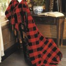 X122 Crochet PATTERN ONLY Buffalo Checks & Star-Stitched Stripes Afghan Patterns